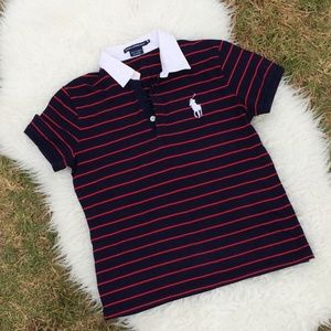 Polo Ralph Lauren Golf Shirt Striped Size Medium